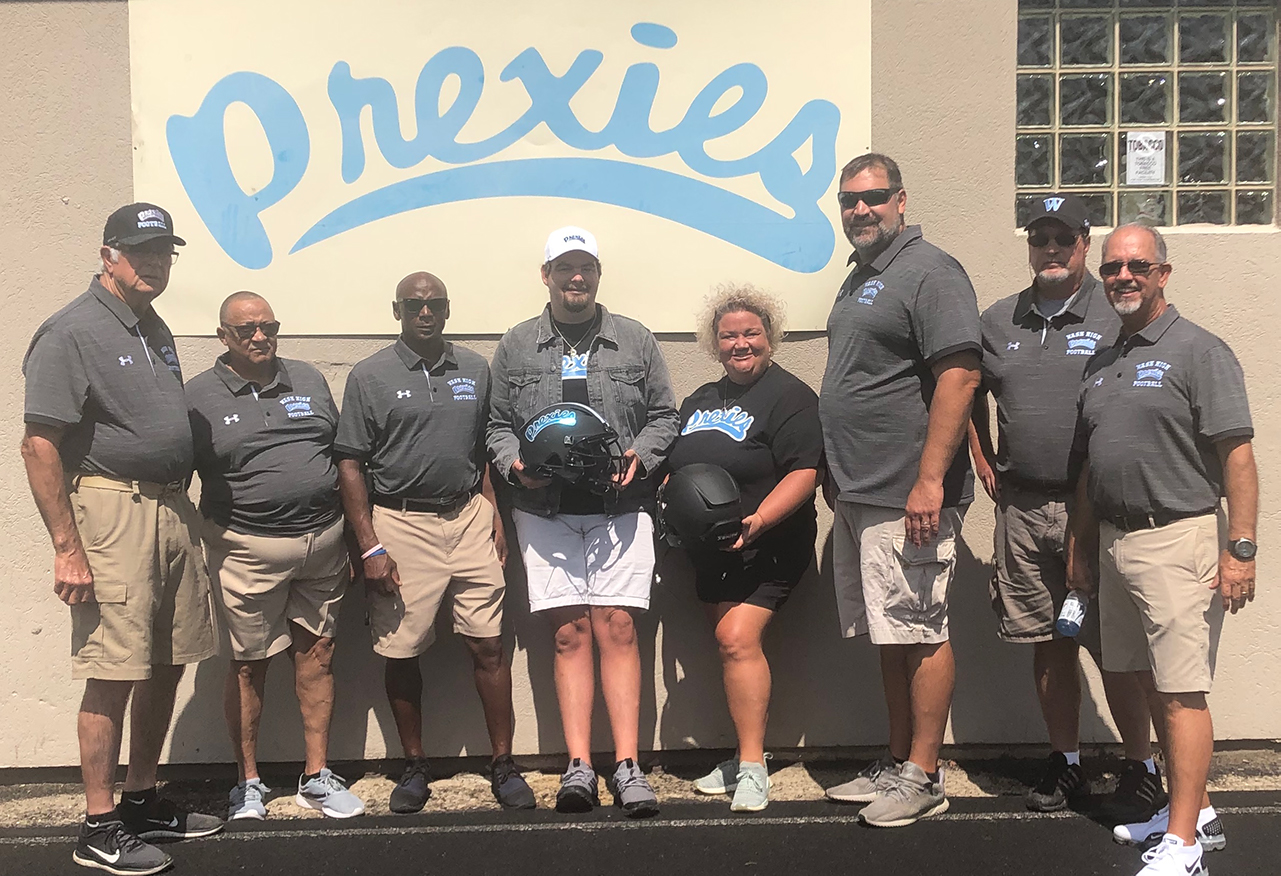 L to R Coaching staff - Mike Bosnic Sr., Ray Adams, Richie Barnes, Patrick Berton, Pattiann Berton, Mike Bosnic, Rob Zaccagnini, and  Lance Vallee