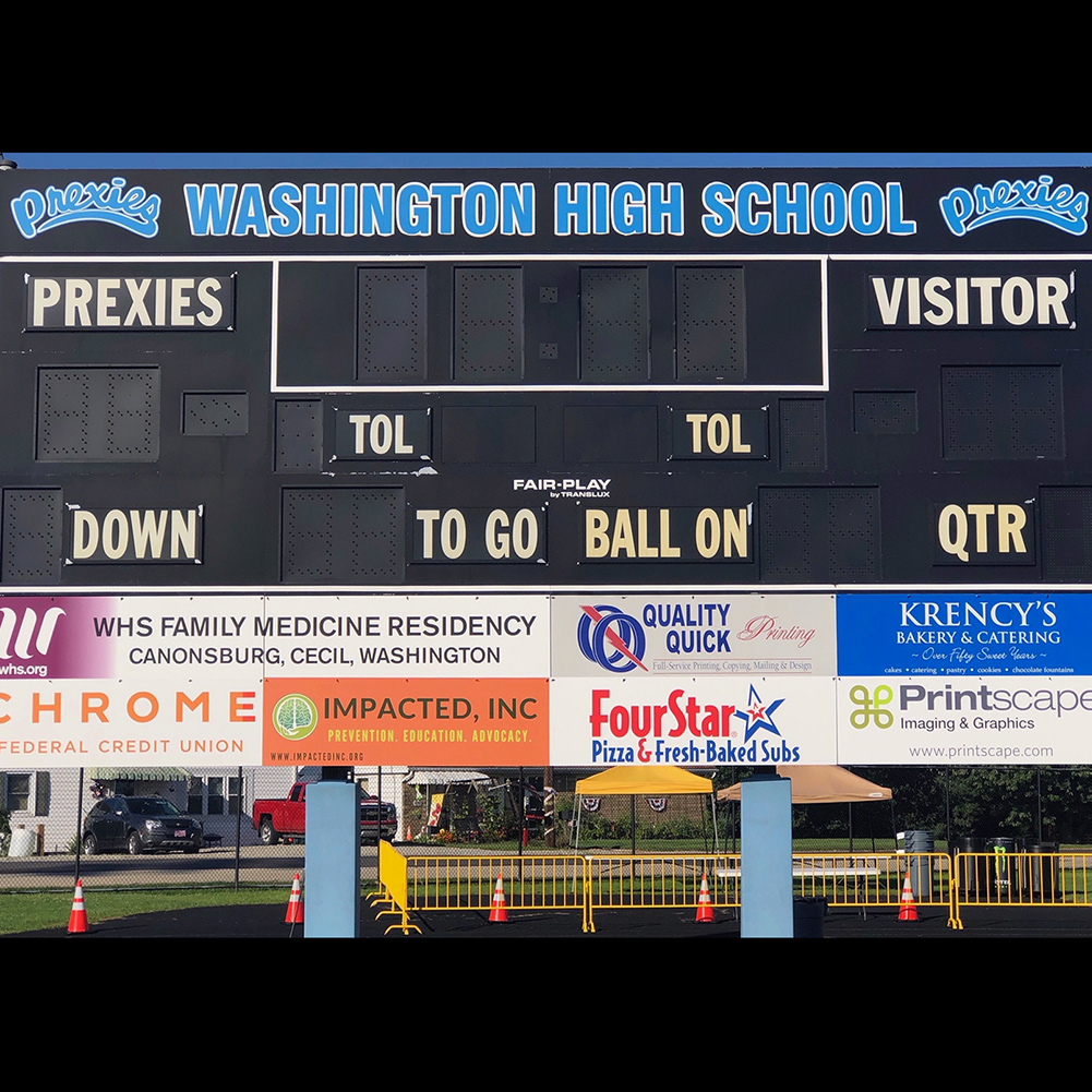 Washington High School Score Board